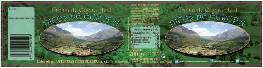 Crema queso azul Picos de Europa